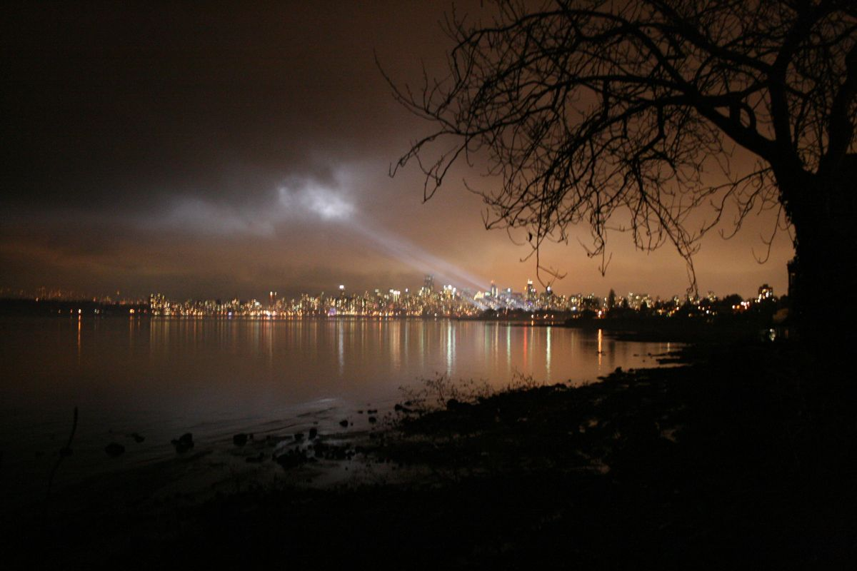 Downtown Vancouver from Jericho Beach, a couple blocks from my house